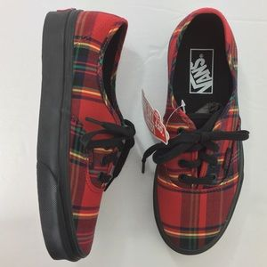 Vans Red Plaid Sneaker